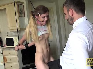 Sub Rhiannon Ryder dominated and left with mouthful of cum